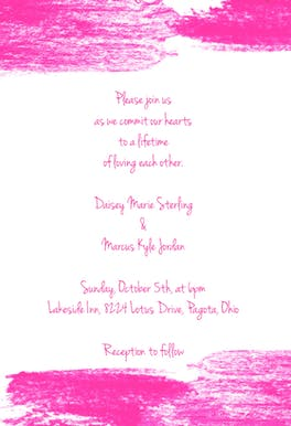 Color Swipe - Wedding Invitation
