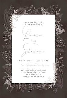 Cream Floral Border - Wedding Invitation
