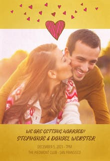 Cute hearts - Wedding Invitation