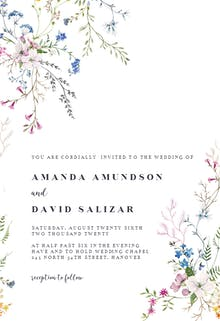 Dainty Flowers - Wedding Invitation