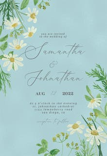Daisy Bouquet - Wedding Invitation