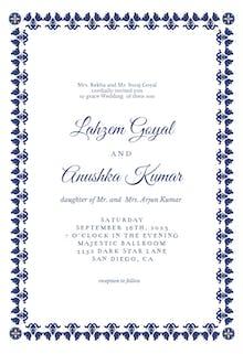 Damask frame - Wedding Invitation