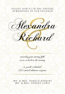 Dappled Distinction - Wedding Invitation