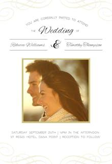 Decorative Detail with Photo - Wedding Invitation