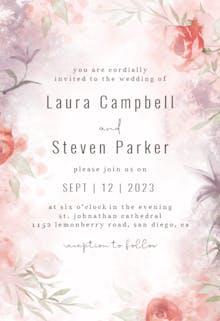 Delicate Florals - Wedding Invitation