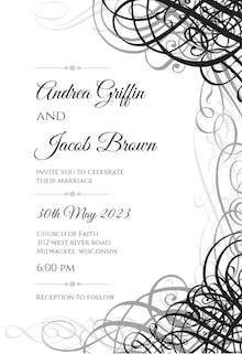 Delicate Twirls - Wedding Invitation