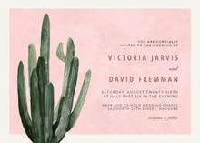 Desert cactus - Wedding Invitation