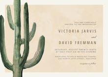 Desert cactus - Wedding Invitation
