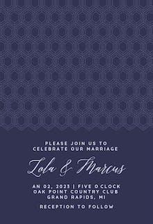 Diamonds Pattern - Wedding Invitation
