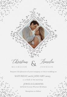 Diamonds - Wedding Invitation
