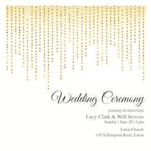 Dot Dangles - Wedding Invitation