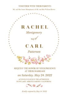 Dotted Circle - Wedding Invitation