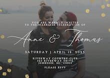 Dotted photo - Wedding Invitation