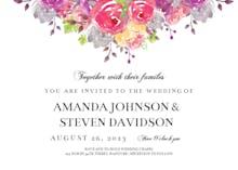 Dropping Florals - Wedding Invitation