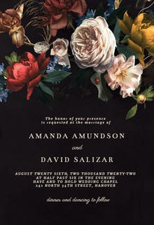 Dutch bouquet - Wedding Invitation
