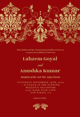 Elegant Damask - Wedding Invitation