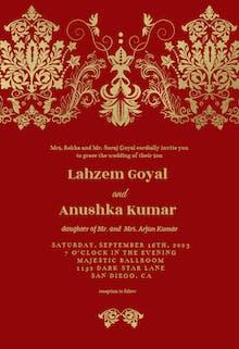 Elegant Damask - Wedding Invitation