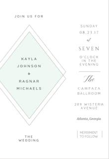 Elegant Diamond - Wedding Invitation