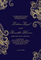 Elegant Henna - Wedding Invitation