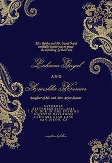 Elegant Henna - Wedding Invitation