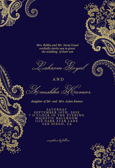 ff833c397372e Wedding Invitation Templates (Free) | Greetings Island