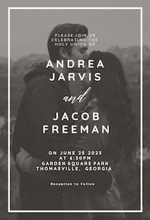 Endless love - Wedding Invitation
