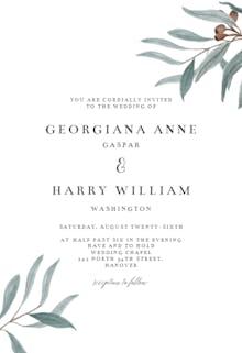 Eucalyptus love - Wedding Invitation
