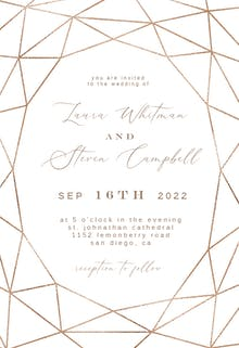 Fall Geometric Frame - Wedding Invitation