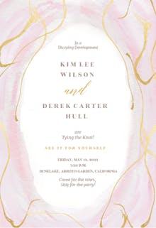Falling Gold Confetti - Wedding Invitation