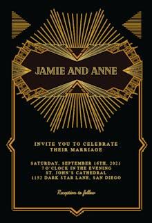 Fancy deco - Wedding Invitation