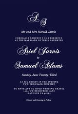 Fancy Script - Wedding Invitation