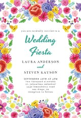 Fiesta Flowers - Wedding Invitation