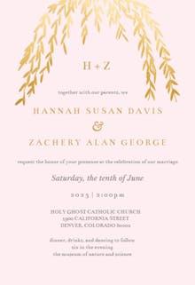 Floral Arc - Wedding Invitation