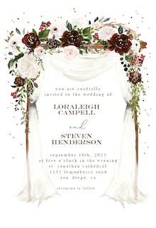 Floral canopy - Wedding Invitation
