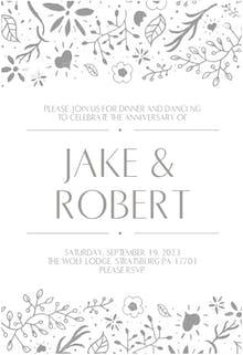 Floral Decorations - Wedding Invitation