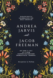 Floral Edge - Wedding Invitation