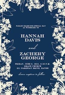 Floral Edges - Wedding Invitation