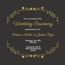 Floral Embrace - Wedding Invitation
