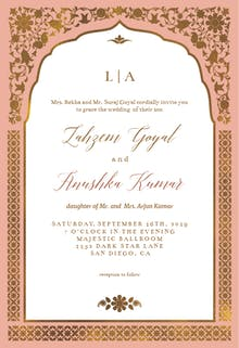 Floral gate - Wedding Invitation