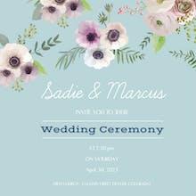 Floral Overlook - Wedding Invitation