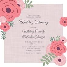 Floral Peeks - Wedding Invitation