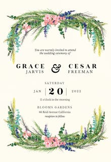 Floral pine - Wedding Invitation