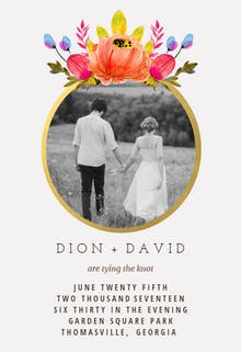 Floral Ring - Wedding Invitation