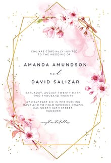 Floral Sakura - Wedding Invitation