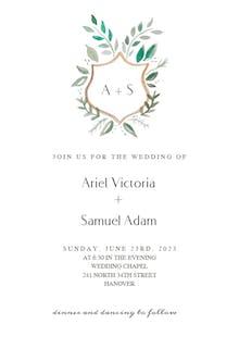 Floral Shield - Wedding Invitation