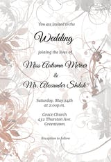 Floral Swirls - Wedding Invitation