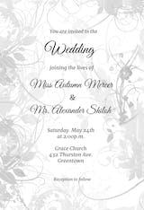 Floral Swirls - Wedding Invitation