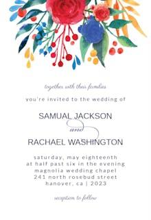 Flower Bouquet - Wedding Invitation