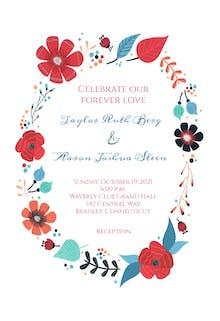 Flower Circle - Wedding Invitation