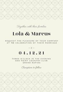 Flower Power - Wedding Invitation